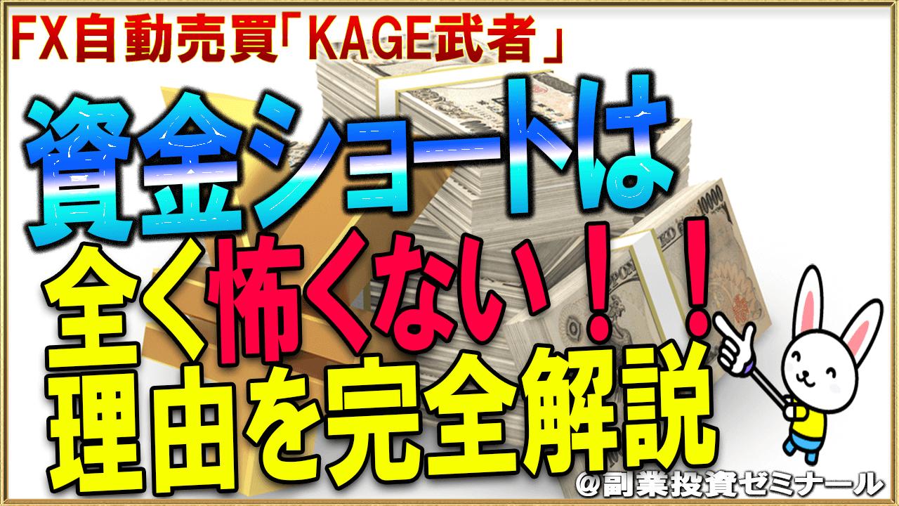 FX自動売買「KAGE武者」が資金ショートを恐れない2つの理由