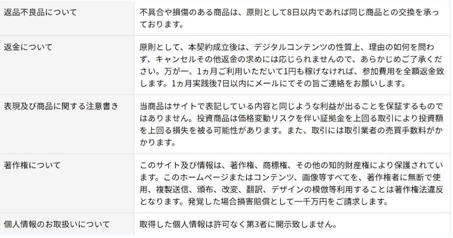 大野肇氏のWESULT_特商法
