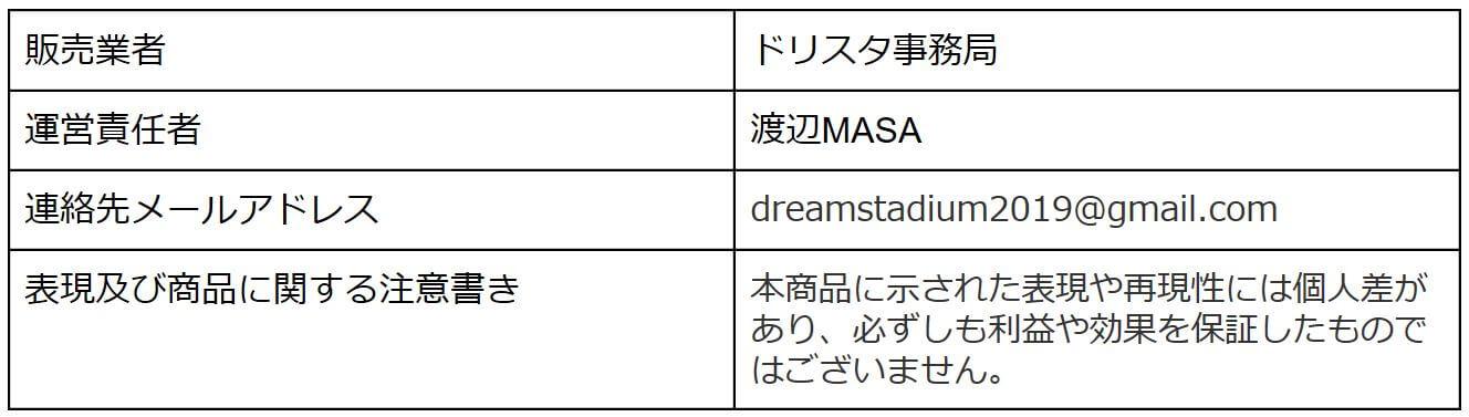 渡辺MASAのDREAMスタジアム_特商法01