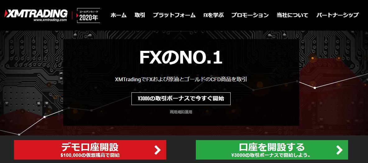 XMの口座開設キャッシュバック