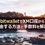 bitwalletでXM口座から出金する方法と手数料を解説 |2020年版